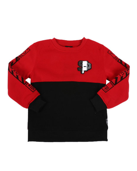 Southpole - Chenille Patch Fleece Crew Neck Pullover Sweatshirt (4-7)