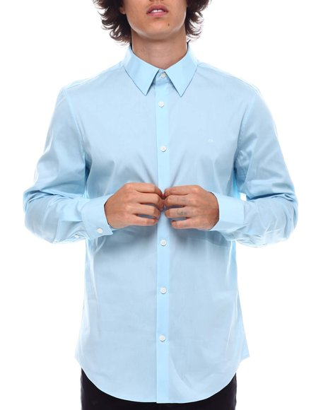 Calvin Klein - LS STRETCH COTTON 50S SHIRT
