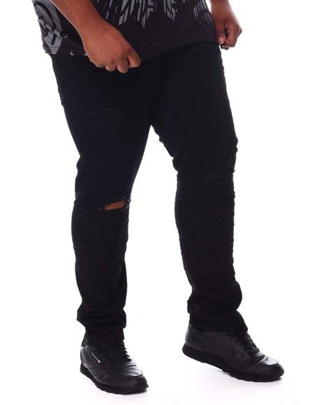 SMOKE RISE - Rip Knee Jeans (B&T)