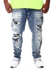 SMOKE RISE - Graffiti Paint Splatter Ripped Jeans (B&T)-2541856