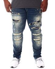 SMOKE RISE - Moto Knee Distressed Rip Jeans (B&T)-2541870