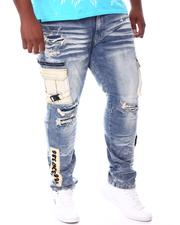 Jeans & Pants - Cargo Pocket Distressed Jeans (B&T)-2541888
