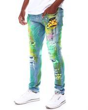 SMOKE RISE - SLIM TAPERED Dream Graffiti Jean-2545617