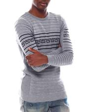 Men - Ls Ribbed Greek Key Knit-2547550