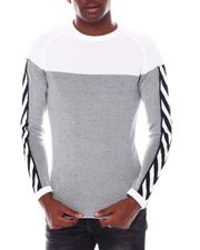 Sweatshirts & Sweaters - Colorblock Knit w Tape Sleeve Detail-2547414