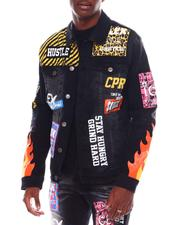 Copper Rivet - Fire Print Denim Jacket-2547938