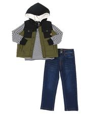 Buffalo - 3 Pc Puffer Vest, Long Sleeve T-Shirt & Jeans Set (4-7)-2546758