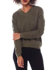 Women - Sweater With Lace up-2548751