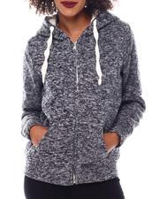 Fashion Lab - Full Zip Cozy Hoodie-2548969