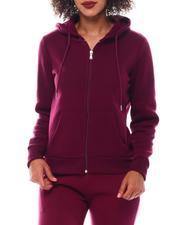 Fashion Lab - Full Zip Basic Fleece Hoodie-2543718