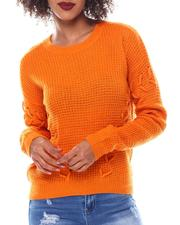 Women - Sweater With Side Lace up Details-2548783