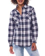 Tops - Roll Cuff Plaid Shirt-2548813