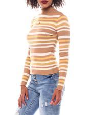 Women - Turtleneck Strip Sweater-2549133