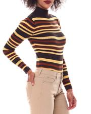 Fall-Winter - Turtleneck Strip Sweater-2549142