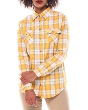 Tops - Roll Cuff Plaid Shirt-2549167