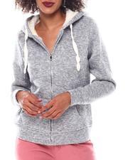 Fashion Lab - Full Zip Cozy Hoodie-2548954