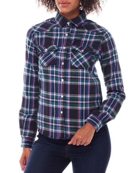Fashion Lab - Roll Cuff Plaid Shirt