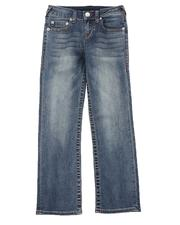 Bottoms - Straight Leg Contrast Seam Jeans (8-18)-2549305