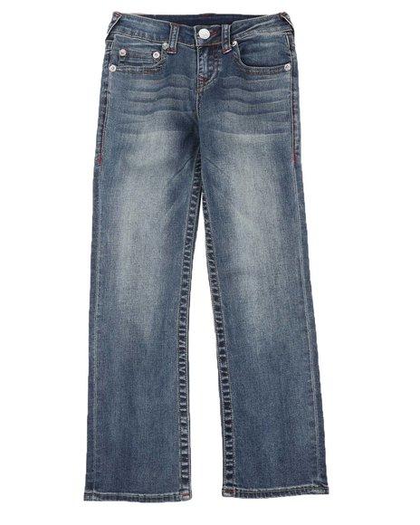 True Religion - Straight Leg Contrast Seam Jeans (8-18)