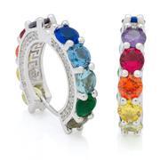 cartoons-pop-culture - Spectrum Sterling Silver Loop Earrings-2547349