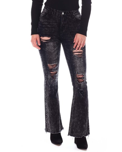 Fashion Lab - High Rise 5 pock Destroyed  Bell Bottom  Jeans