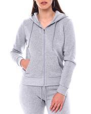 Fashion Lab - Full Zip Basic Fleece Hoodie-2543744