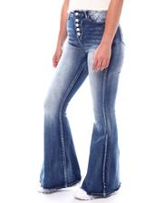 Jeans - Expose Button Flare Leg Jeans-2546936