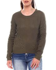 Sweaters - Sweater With Side Lace up Details-2548774