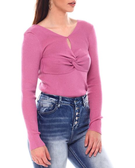 Fashion Lab - Long Sleeve  Ruched front Top