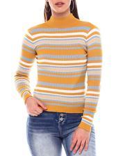 Sweaters - Turtleneck Strip Sweater-2549147