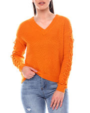 Sweaters - Sweater With Lace up Arms-2548738