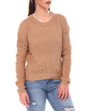 Sweaters - Sweater With Side Lace up Details-2548769