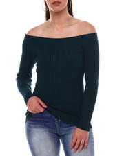 Sweaters - Off Shoulder Sweater-2549075