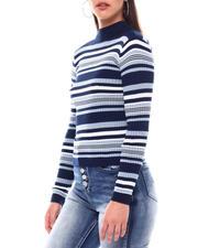 Sweaters - Turtleneck Strip Sweater-2549152