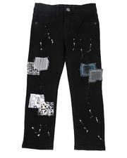 Arcade Styles - Paint Splatter Washed Jeans (4-7)-2549710