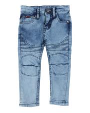 Bottoms - Washed Rip & Repair Stretch Moto Jeans (2T-4T)-2549745