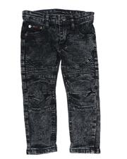 Bottoms - Washed Rip & Repair Stretch Moto Jeans (2T-4T)-2549749