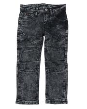 Bottoms - Washed Rip & Repair Stretch Moto Jeans (4-7)-2549753