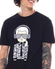 KARL LAGERFELD PARIS - KARL HEADPHONE CHARACTER WITH REFLECTIVE INK Tee-2547447