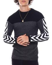 Sweatshirts & Sweaters - Colorblock Knit w Tape Sleeve Detail-2547403
