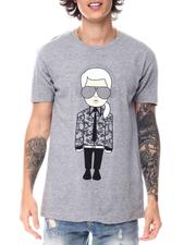 KARL LAGERFELD PARIS - KARL HEADPHONE CHARACTER WITH REFLECTIVE INK Tee-2547430