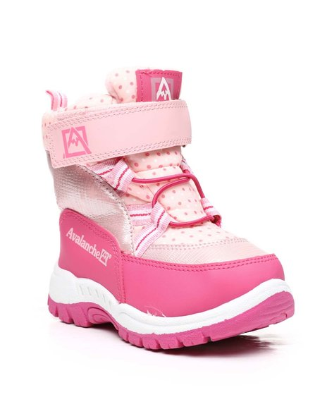 Avalanche - Polka Dot Snow Boots (6-11)