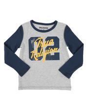 True Religion - 02 Logo Two Tone Long Sleeve Tee (4-7)-2549364