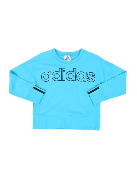 Adidas - 3 Stripes Pullover Sweatshirt (7-16)