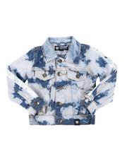 Arcade Styles - Denim Jacket W/ Striped Sleeve (2T-4T)-2549679
