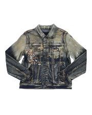 Denim Jackets - Two Tone Denim Trucker Jacket (8-20)-2549705