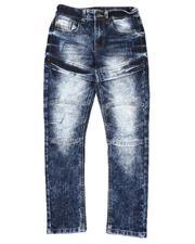 Bottoms - Dart Knee Stretch Biker Jeans (8-18)-2550027