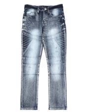 Bottoms - Cut & Sew Biker Stretch Jeans (8-18)-2550079