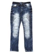 Bottoms - Cut & Sew Biker Stretch Jeans (8-18)-2550048
