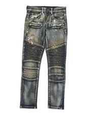 Arcade Styles - Two Tone Moto Jeans (8-20)-2549799